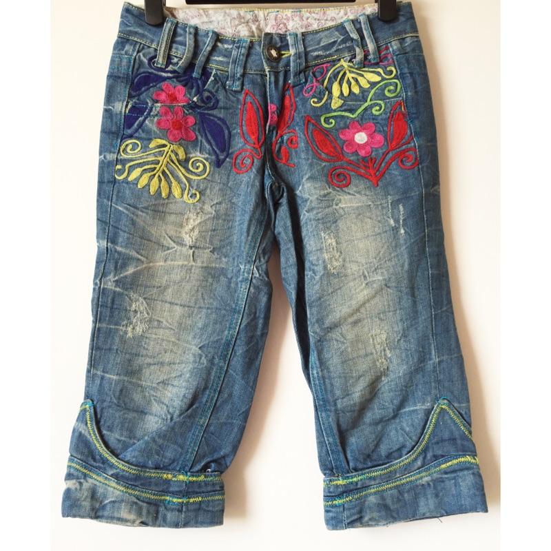 中國風民族風刺繡繡花牛仔褲