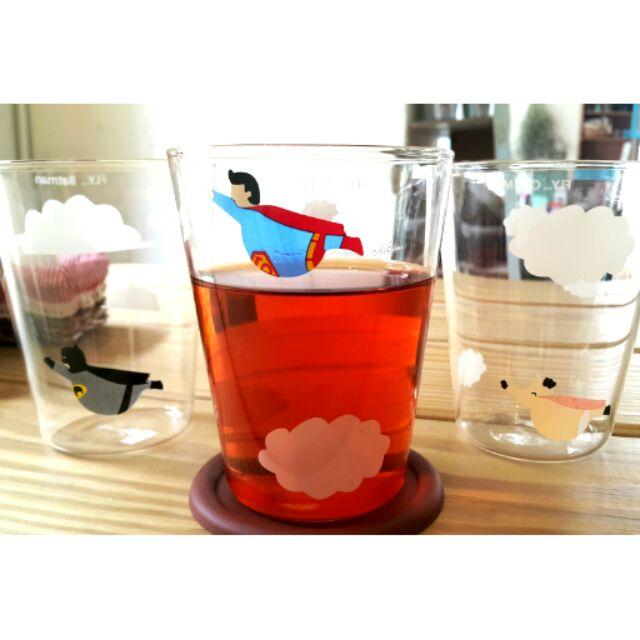 卡通 水杯超人杯子蝙蝠俠杯子透明水杯