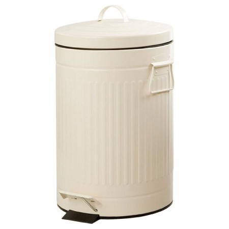 ~ NITORI ~象牙白色腳踏式垃圾桶12L 鋼質垃圾桶復古腳踏垃圾桶腳踩踏板垃圾桶垃圾