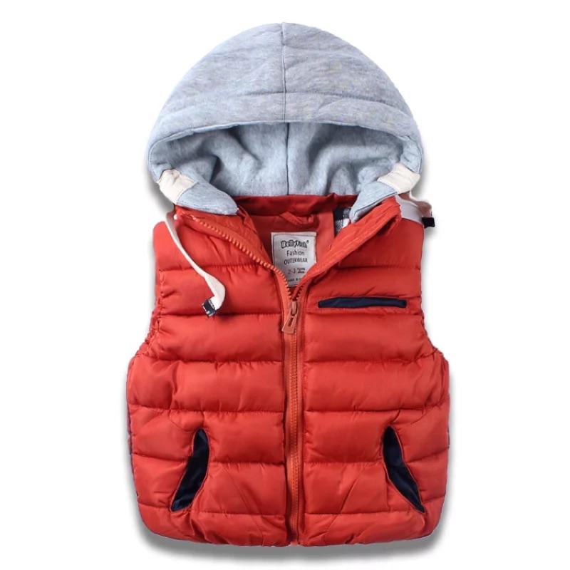( )男女童中大童保暖抽繩連帽背心外套