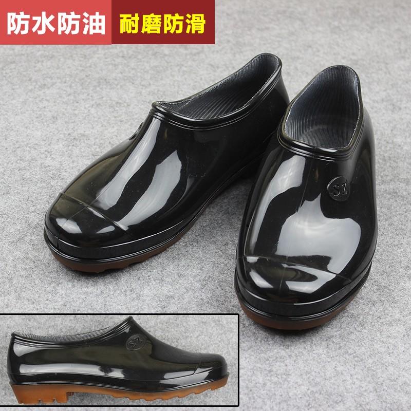 水鞋雨鞋雨靴水靴膠鞋套鞋防水防滑橡膠廚師廚房工作鞋男短筒