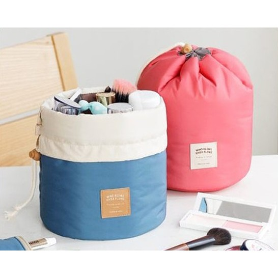 ☜shop go ☞~N15 ~韓國束口圓筒化妝包三件組包中包旅用收納行李箱壓縮袋旅行箱收