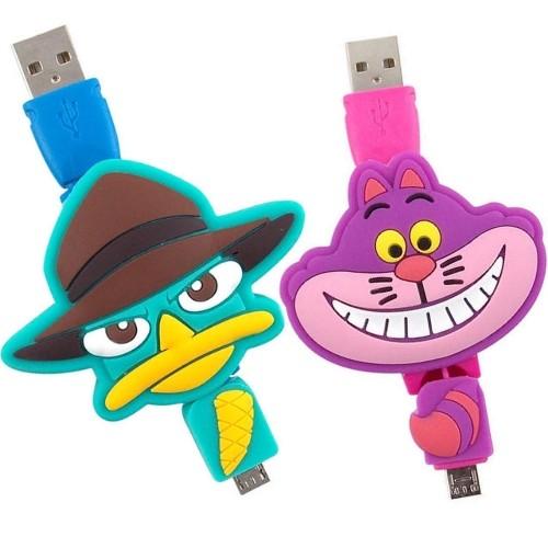 ~Disney ~Micro USB 伸縮傳輸線柴郡貓泰瑞