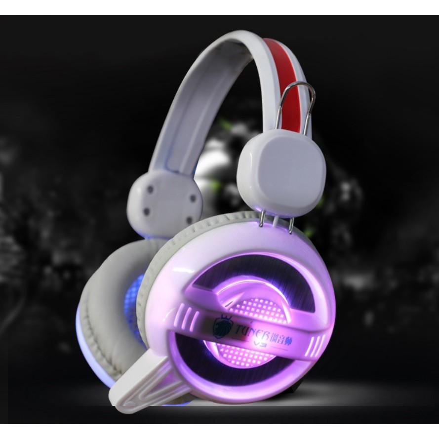 ~ ~調音師V3 高端耳機遊戲耳機電競耳機七彩呼吸發光重低音耳機