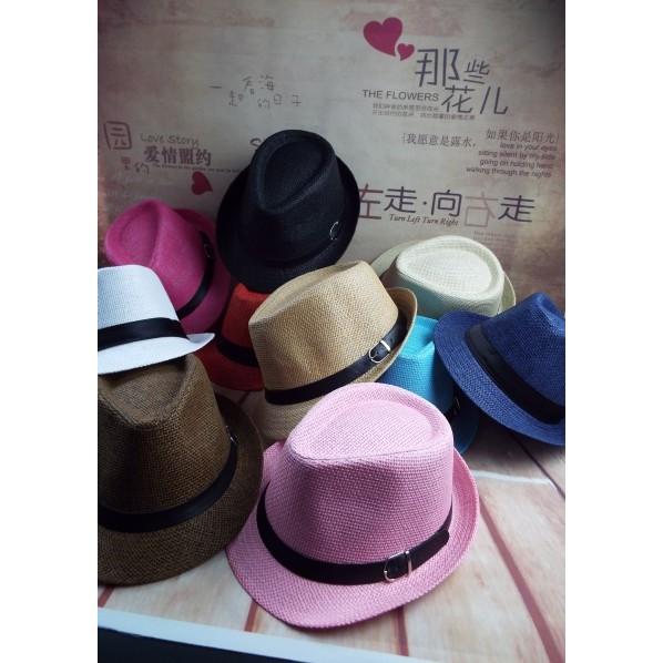 男士 帽漁夫帽爵士禮帽 潮女春夏英倫草帽遮陽太陽帽親子兒童沙灘帽