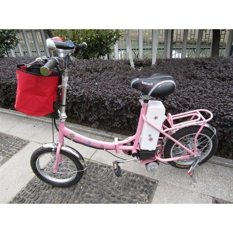 廠商直銷升級款350w 折疊電動自行車16 寸輪胎粉紅款電動車電瓶車