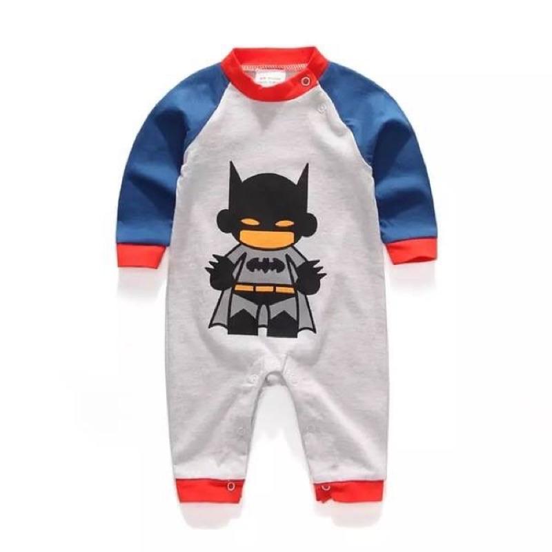 款拚色接袖黑色蝙蝠俠長袖連身裝