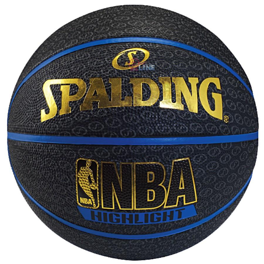 斯伯丁籃球SPALDING NBA Highlight SS logo 藍邊SPA7390