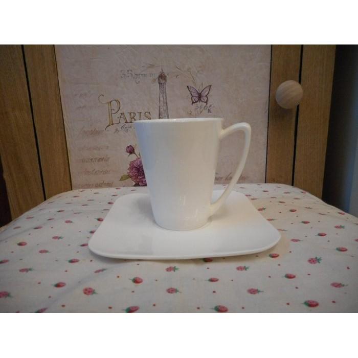 凡爾賽  白瓷方盤 濃縮咖啡杯小花茶杯