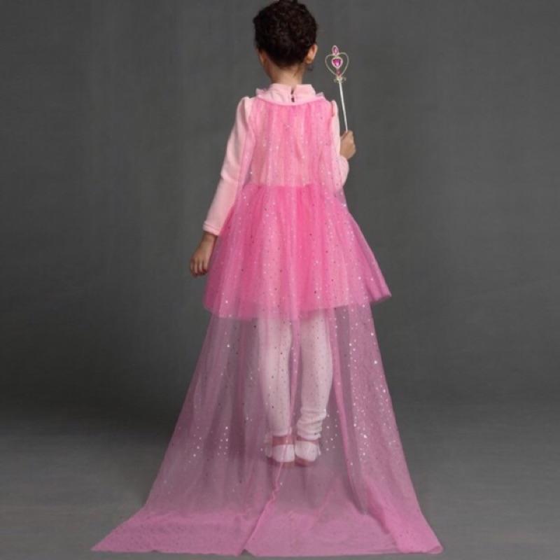 冰雪奇緣艾莎公主披風家家酒曳地不用再披棉被了外拍飄逸禮服洋裝(只有披風無禮服無首飾)萬聖節