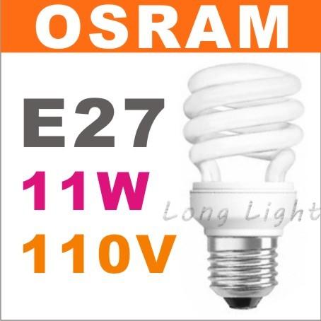 OSRAM 歐司朗省電燈泡螺旋燈泡E27 23W 110V