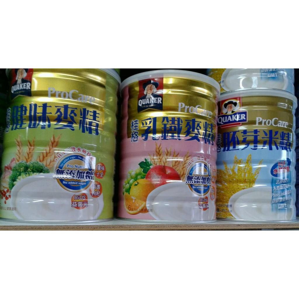桂格健味麥精乳鐵麥精胚芽米精750g