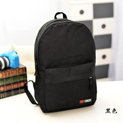 B003 休閒風素色後背包書包大學包學生包帆布包可放A4 學院風雙肩包情侶包