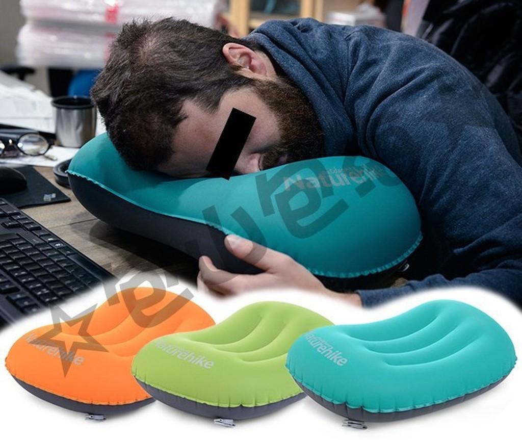 包山包海}戶外休閒登山露營旅遊旅行NatureHike 輕量化充氣枕頭舒適護頸睡枕頸部靠枕