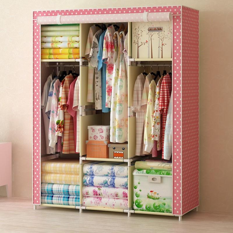 大容量加粗加固多層布衣柜宜家無紡布衣櫥一件代發包郵141104D 2