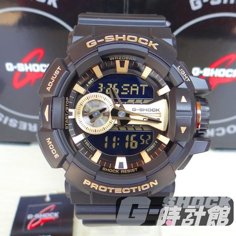 CASIO G SHOCK GA 400 大錶徑系列GA 400GB 1A9 金屬風雙顯黑
