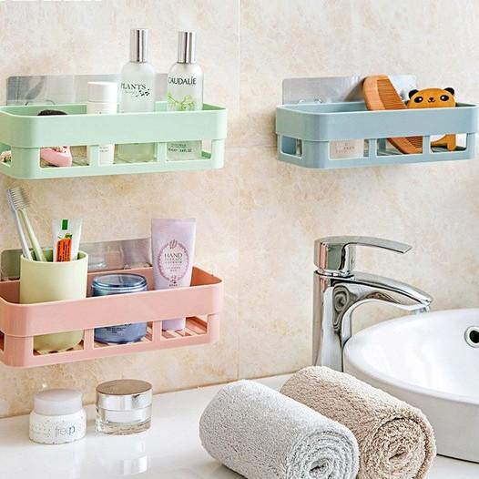 無痕浴室置物架洗漱用品儲物架浴室洗手間無痕收納架