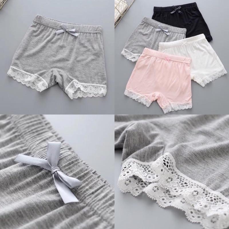 女童蕾絲花邊莫代爾面料超舒服的打底褲安全短褲