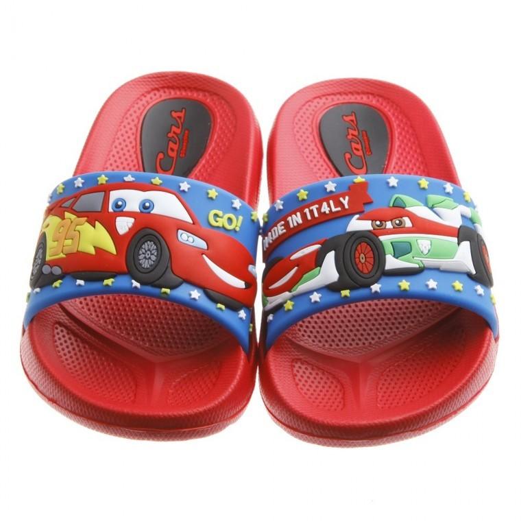 ~換季 ~童鞋Cars 閃電麥坤與超哥紅色兒童輕便拖鞋
