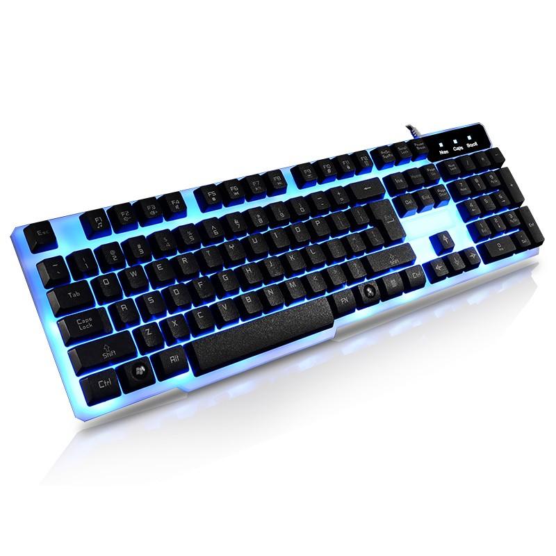 精亞炫彩背光懸浮機械手感電腦筆記本USB 游戲有線鍵盤cf lol