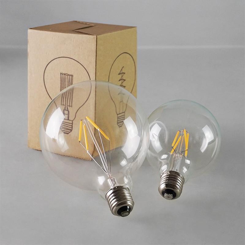 ~四方圓LED 照明工廠~四方圓G95 復古仿鎢絲LED 球泡燈E27 燈座4 瓦全電壓艾