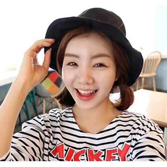 ~灰熊Q ~M0997 韓國 純色休閒圓頂漁夫盆帽遮陽防曬太陽帽子男女款帽子 帽 嘻哈帽街