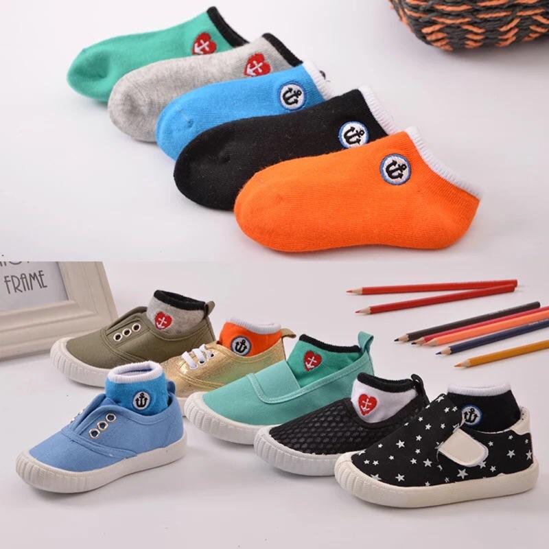 春 韓國純棉親子襪、糖果色寶寶船襪、