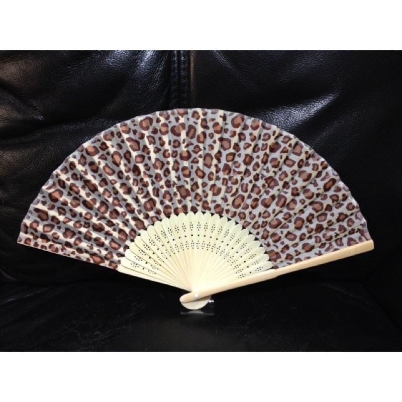 ❤❤╮豹紋小舖舖╭❤❤咖啡豹紋粉紅豹紋扇子