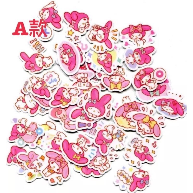 40 入美樂蒂melody_Line 貼圖表情貼紙卡通防水貼紙機車安全帽電腦行李牆壁筆記本