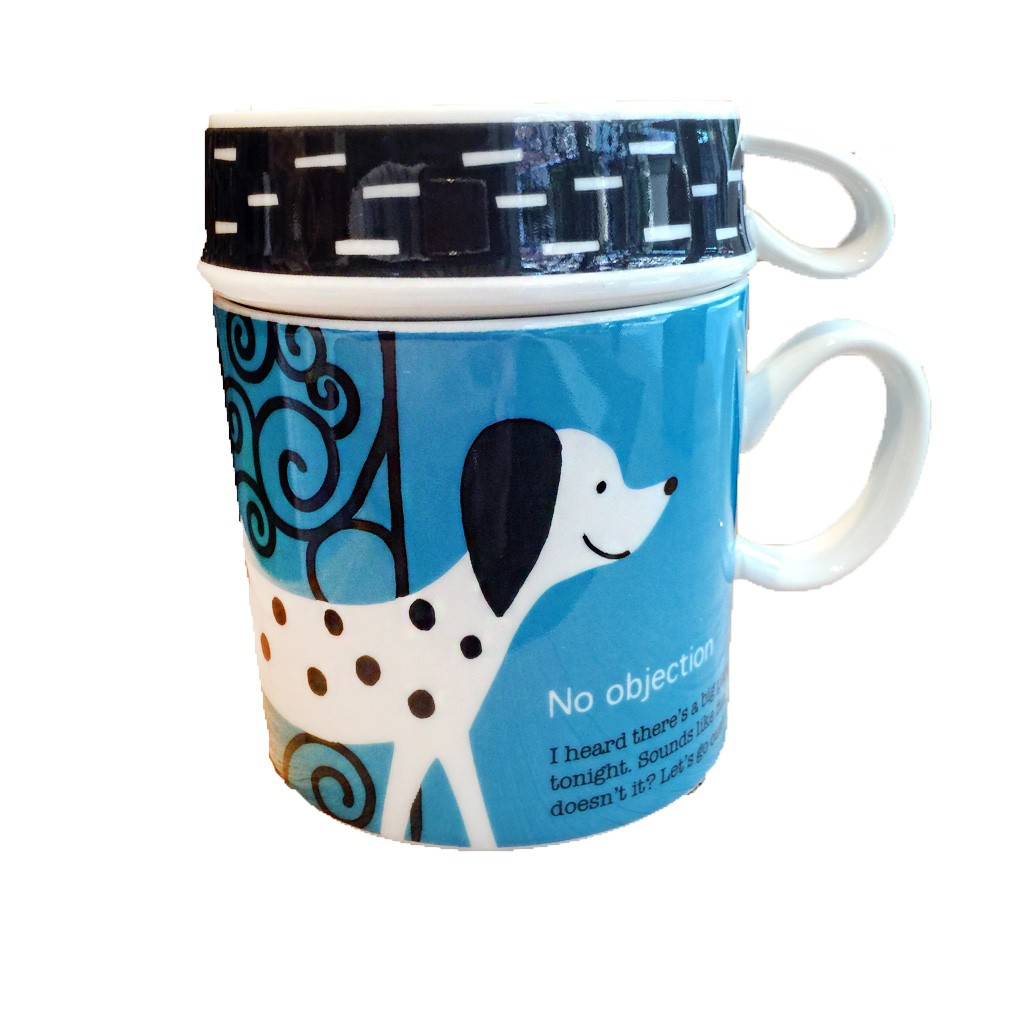 Shinzi Katoh 陶瓷馬克杯大小套杯組點點狗