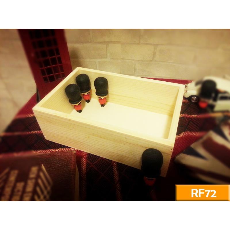 實木收納盒原木色RF72 飾品木盒收納盒文具盒工業風北歐LOFT 復古美式