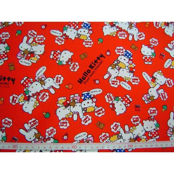 ~傑美屋•縫紉之家~ 卡通布三麗鷗凱蒂貓Hello Kitty 50386 1a 牛津厚棉