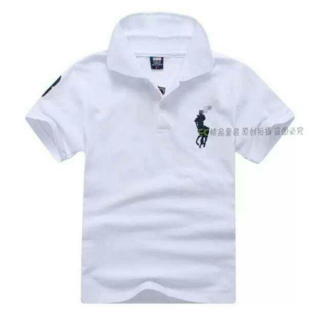 兒 短袖t 卹男童女寶寶 純棉中大童小孩上衣polo 衫n n 185 n n 尺寸7 1
