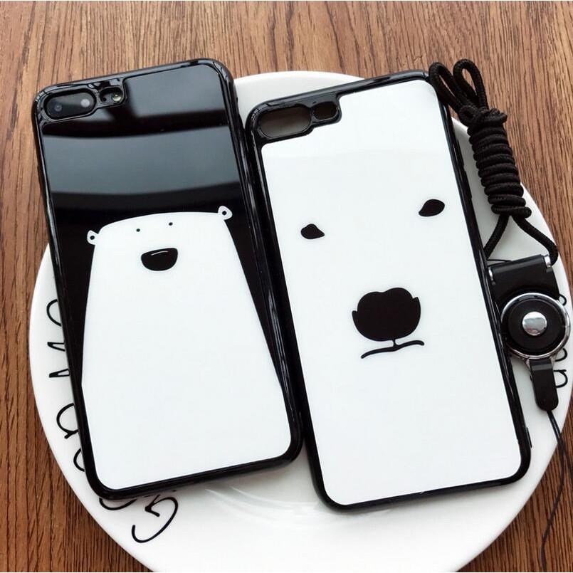 彩繪tpu 北極熊iPhone7 手機殼蘋果6s 矽膠6Plus 卡通軟殼