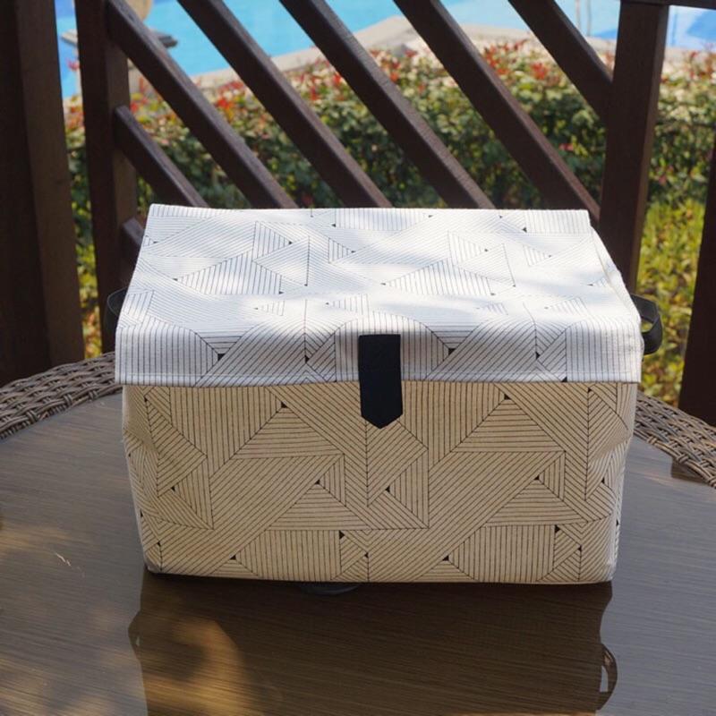 居家 收納盒收納籃洗衣籃玩具盒後車廂整理置物籃衣櫥換季整理棉麻 無毒防水塗層翻蓋防塵盒可折