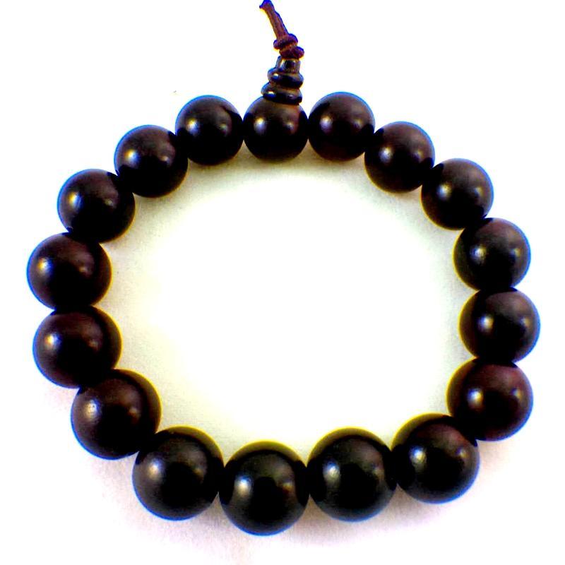 ~歡喜地佛教文物~12mm 黑檀木手珠佛珠手鏈
