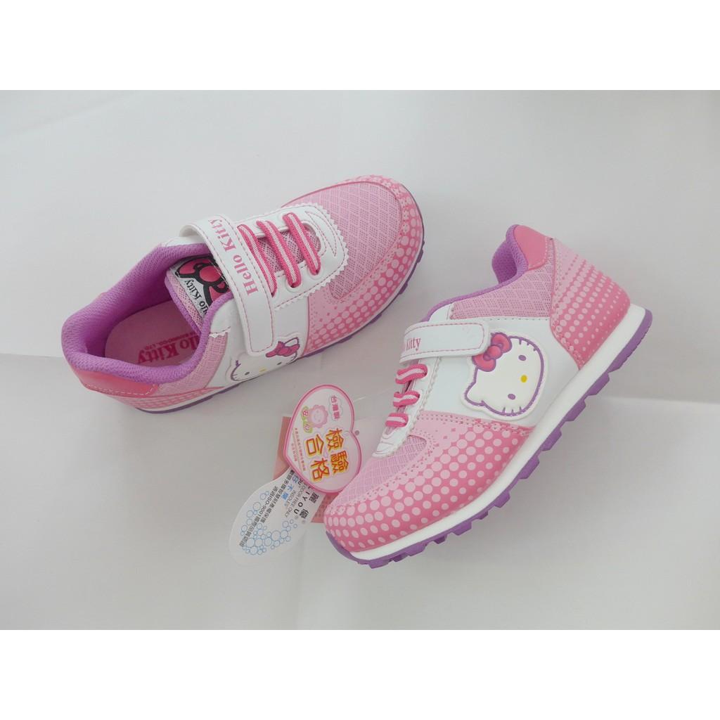 三麗鷗Hello Kitty 凱蒂貓可愛側圖網布透氣 鞋布鞋716230 粉色17 23