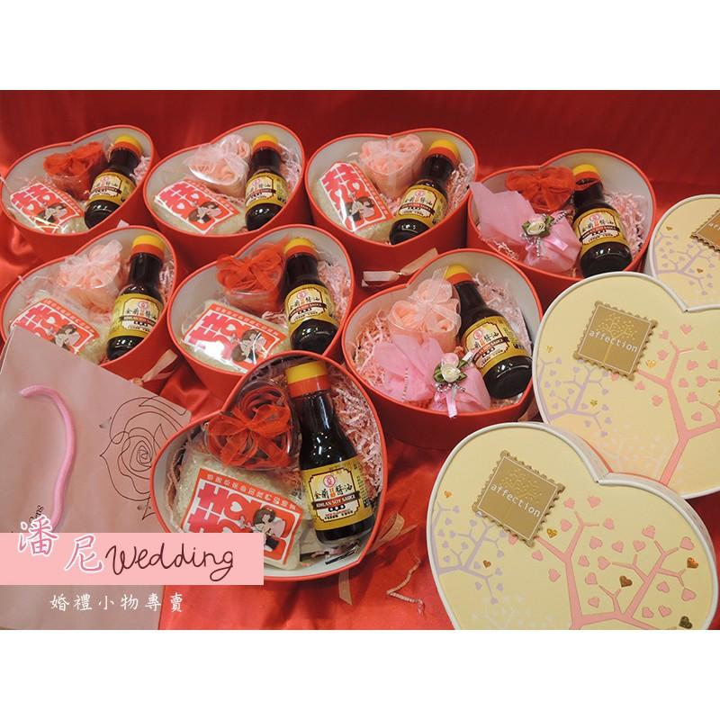 潘尼婚品甜心風金蘭醬油喜米 婚禮小物、訂婚、結婚、送客禮、伴手禮、抽獎、長輩禮