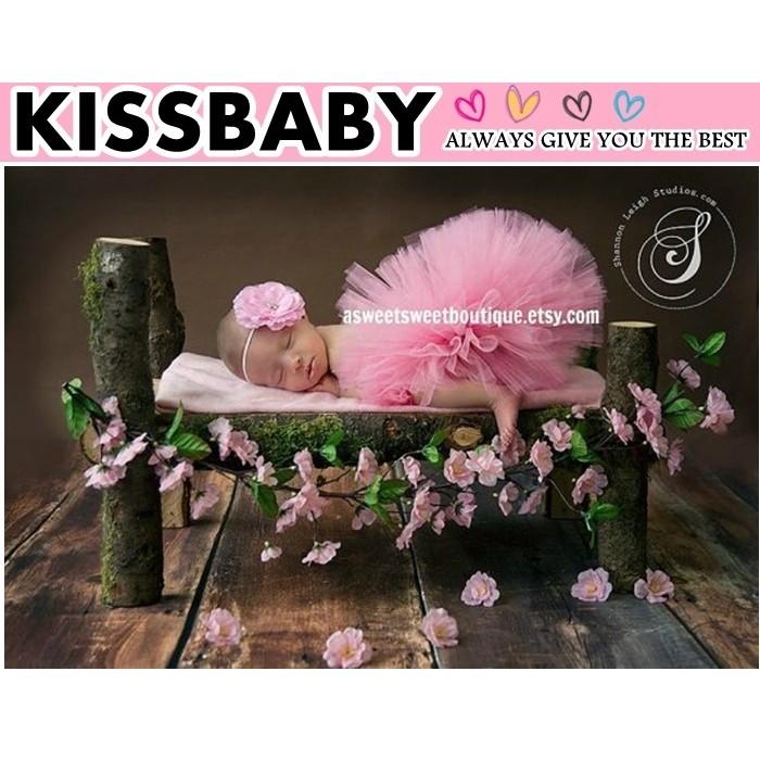 ~粉紅色蓬裙髮帶H 款~tutu 裙蓬蓬裙拍造裙髮帶和裙子兒童澎澎裙藝術照拍照嬰兒 服