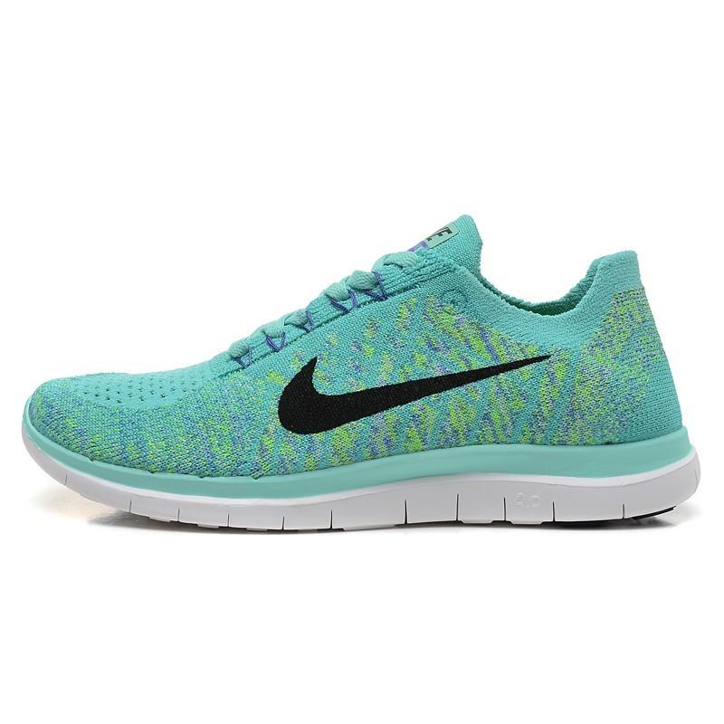 ~T 韓國 ~Nike Free 4 0 赤足飛線透氣女鞋編織 輕便跑步鞋 鞋黑灰女子慢跑