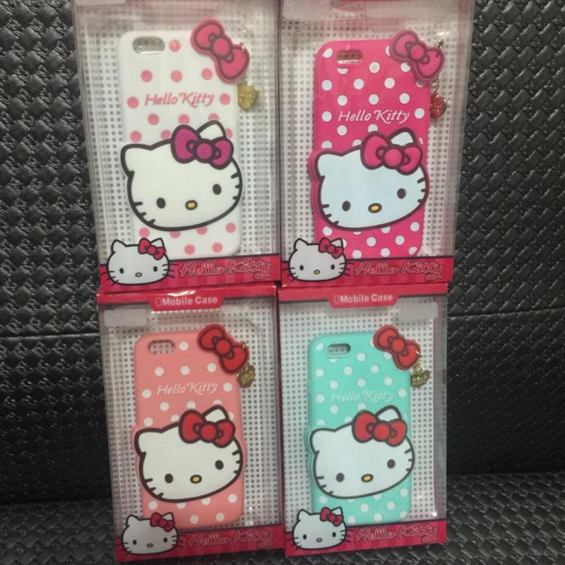 Hello kitty 凱蒂貓點點系列矽膠 手機殼IPHONE 6 6s 4 7 吋