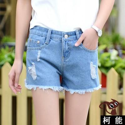 短褲~6838 ~ 毛邊牛仔短褲