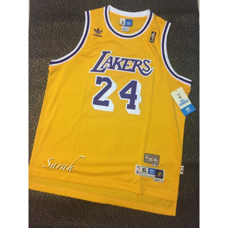 NBA 球衣青年版LAKERS 24 號KOBE BRYANT 復古HWC 球衣YXL