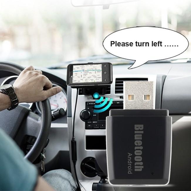 無線藍牙4 13 5 毫米USB 免提車用AUX 音頻立體聲音樂接收器