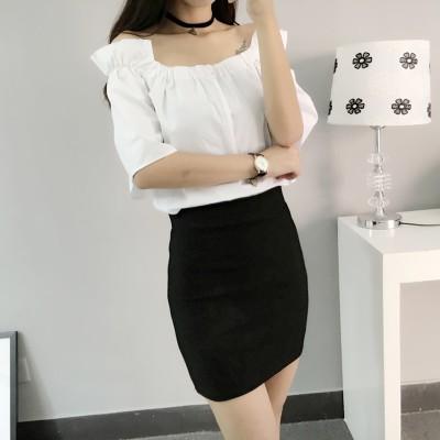 2017 夏裝 修身顯瘦ol 職業裙A 字裙彈力裙包裙短裙子半身裙女潮