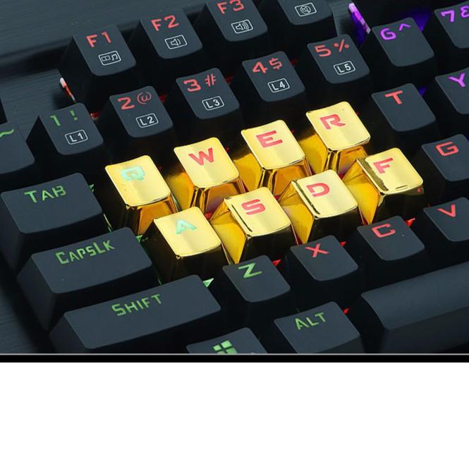 ~換色時代~電競遊戲機械鍵盤快打旋風燙金 懸浮按鍵機械手感青軸紅軸黑軸茶軸透光鍵帽