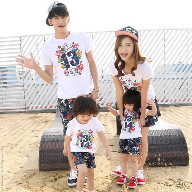 [ ]親子裝夏裝全家裝套裝母女裝T 恤 純棉一家三口家庭裝❤️