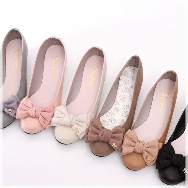 圓頭立體蝴蝶結氣質優雅款娃娃鞋休閒鞋