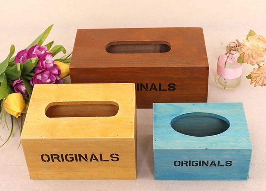置物面紙盒抽取式木頭木製面紙盒衛生紙盒復古鄉村餐廳民宿客廳辦公室餐廳NCEV 91
