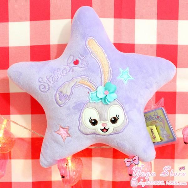 ~JR 萌物世界~ Stella Lou 芭蕾兔史黛拉五角星毛絨玩具抱枕娃娃機公仔萌